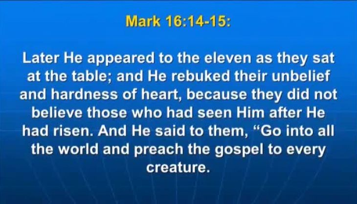 Photo of Mark 16:16, He who believes and is baptized will be saved;