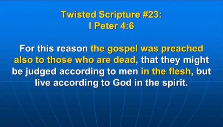 Photo of I Peter 4:6, For this reason the gospel was preached also to those who are dead,