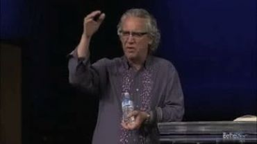 Photo of Bill Johnson Describing Feather Falling Out of the Air