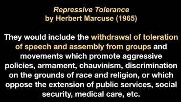Photo of Video Clip: The Repressive Tolerance of Herbert Marcuse