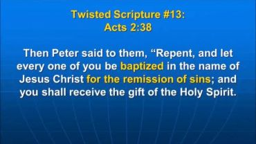 Photo of Acts 2:38, ...be baptized in the name of Jesus Christ for the remission of sins,