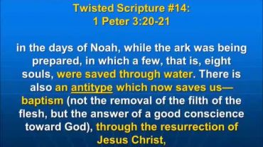 Photo of I Peter 3:20-21, There is also an antitype which now saves us--baptism.