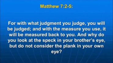 Photo of Matthew 7:1, Judge not, that you be not judged