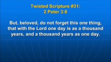 Photo of 2 Peter 3:8, that with the Lord one day is a thousand years, and a thousand years as one day